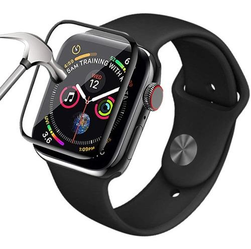 kit 2 peliculas vidro apple watch 10d instalação facil 44mm