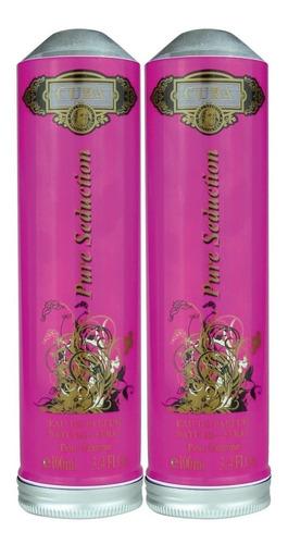 kit 2 perfumes cuba pure seduction prime feminino 2x 100ml