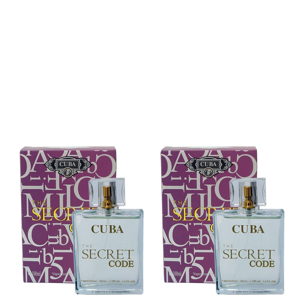 cd5e50fe98 kit 2 perfumes cuba the secret code 2 x 100ml. Carregando zoom.