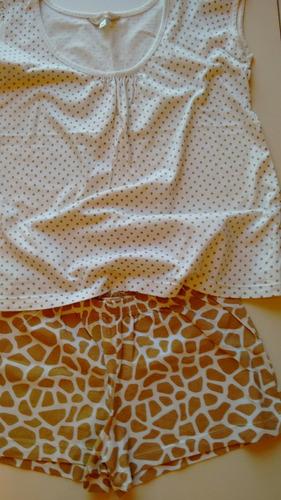 kit 2 pijamas estampado tam m e roupão de brinde