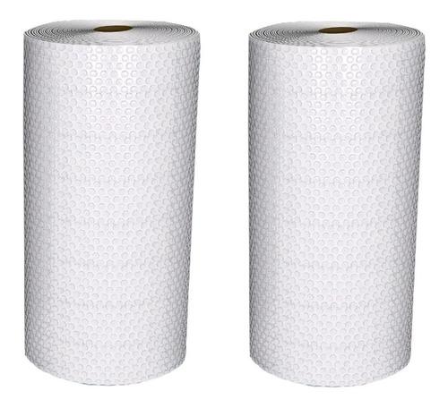 kit 2 plastico bolha bobina 1,30x100 metros 25 micras thyffy