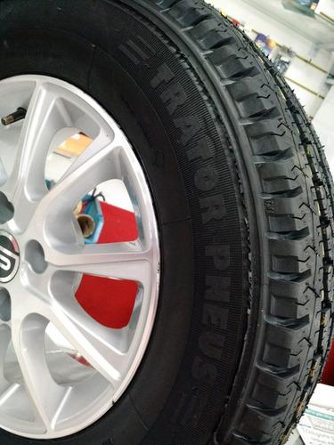 kit 2 pneu 185 r14 carga remoldado kombi besta van vipal