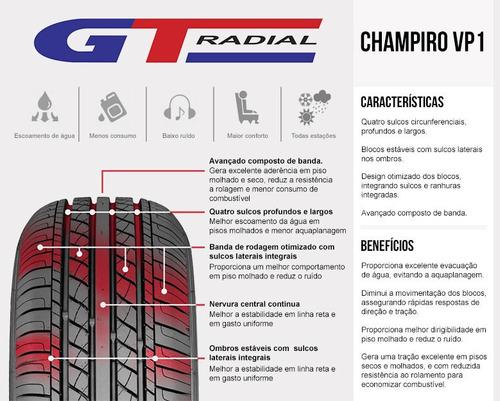 kit 2 pneus 155/65r13 gt radial champiro vp1 73t chery qq