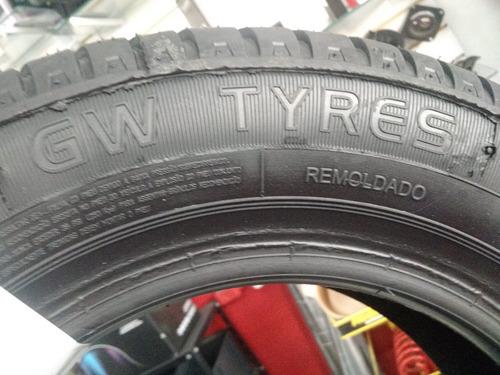 kit 2 pneus 175/70 r13 gw tyre remoldado frete grátis