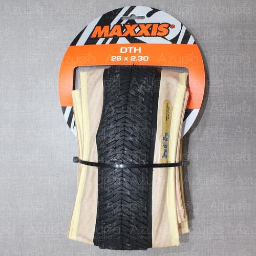 kit 2 pneus bike maxxis dth 26x2.30 kevlar skinwall