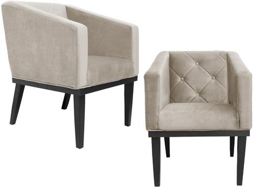kit 2 poltrona cadeira rafa consultório sala de espera azul