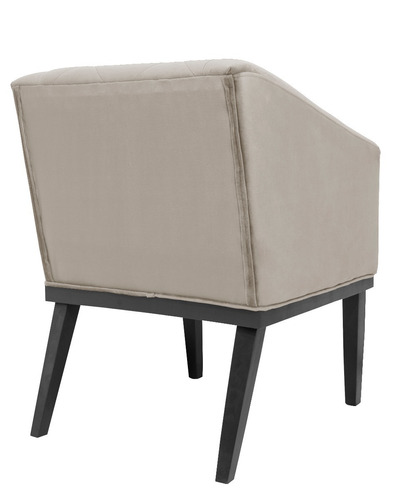 kit 2 poltrona cadeira rafa escritório sala de espera bege