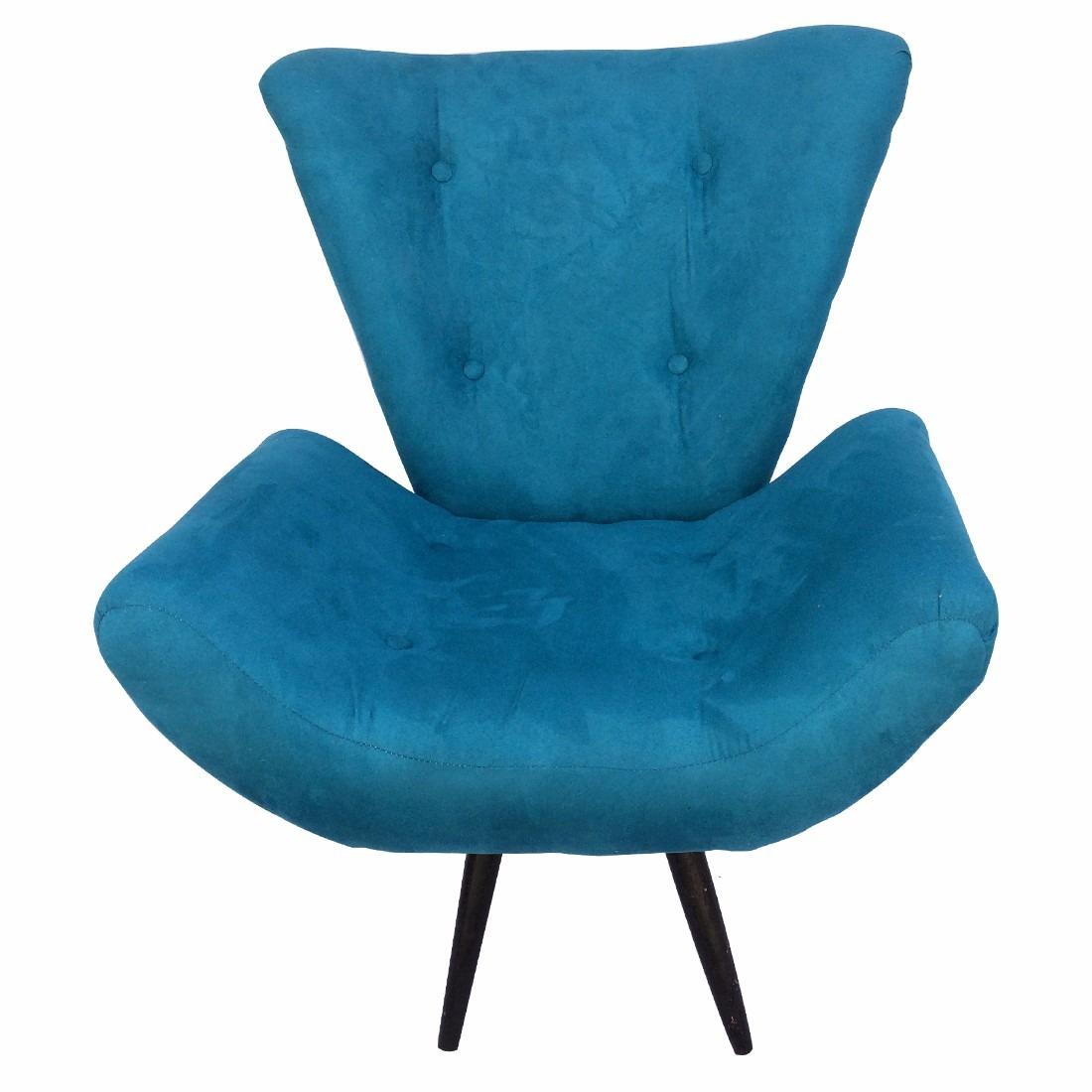 Kit 2 poltronas isabela azul turquesa sala estar p s r for Sala de estar turquesa