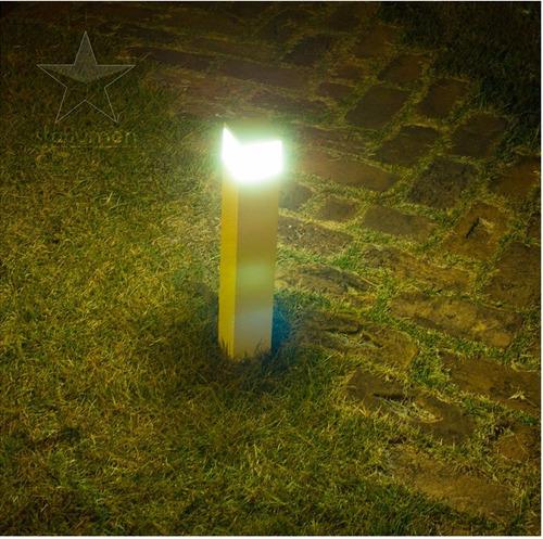 kit 2 poste luminária balizador alumínio p/jardim 50cm st222