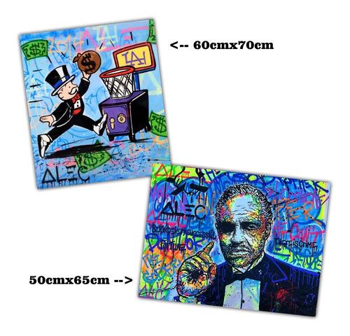 kit 2 posters alec monopoly grafite arte 60x70cm + 50x65cm