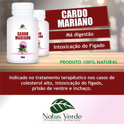 kit 2 potes cardo mariano mg 100 cápsulas total 200 capsulas
