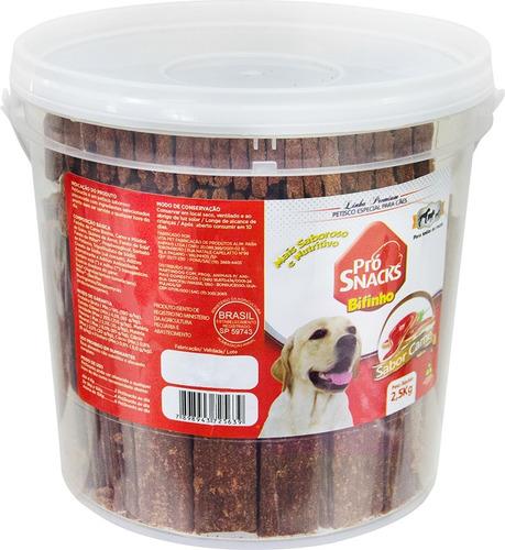 kit 2 potes petisco procanine bifinho sabor carne 2,5kg
