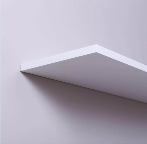 kit 2 prateleira nicho mdf 130x30 branco 15mm 1,30 mt x 30cm