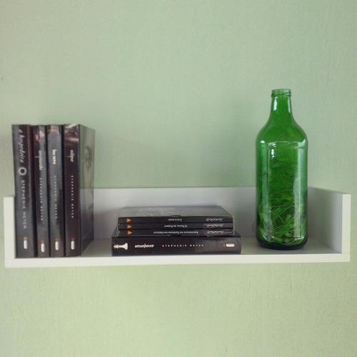 kit 2 prateleiras para livros quarto de bebe sala estante