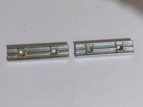 kit 2 presilhas de aço zamack