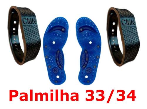 kit 2 pulseira magnética terapêutica para dor - frete grátis