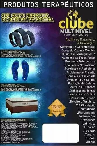 kit 2 pulseiras infravermelho magnética original cmn+brinde!