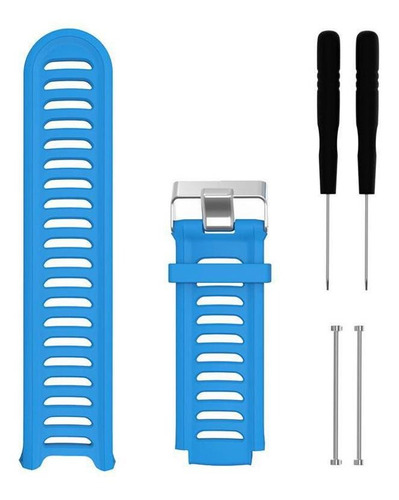 kit 2 pulseiras silicone laranja azul celeste garmin 910xt