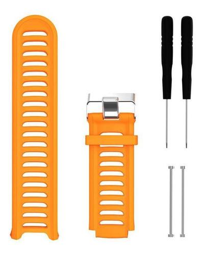 kit 2 pulseiras silicone laranja e rosa  garmin 910xt