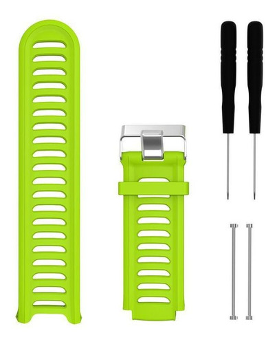 kit 2 pulseiras silicone laranja e verde limão garmin 910xt