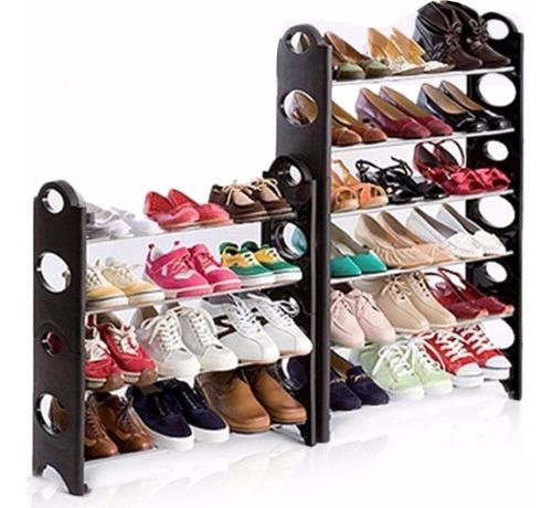 kit 2 rack zapatera 10 niveles 30 pares zapatos practico