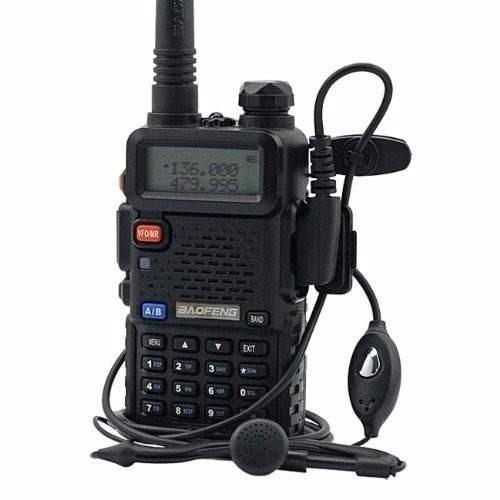 kit 2 rádio baofeng dual band uv-5r 136-174/400-520 mhz fone