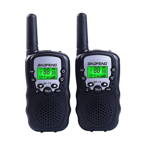 kit 2 radio comunicador walk talk talkabout baofeng t3 novo