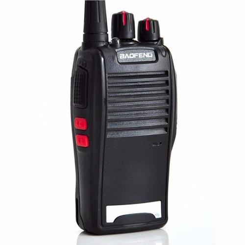 kit 2 radios comunicação ht uhf vhf 16 canais completos 777s