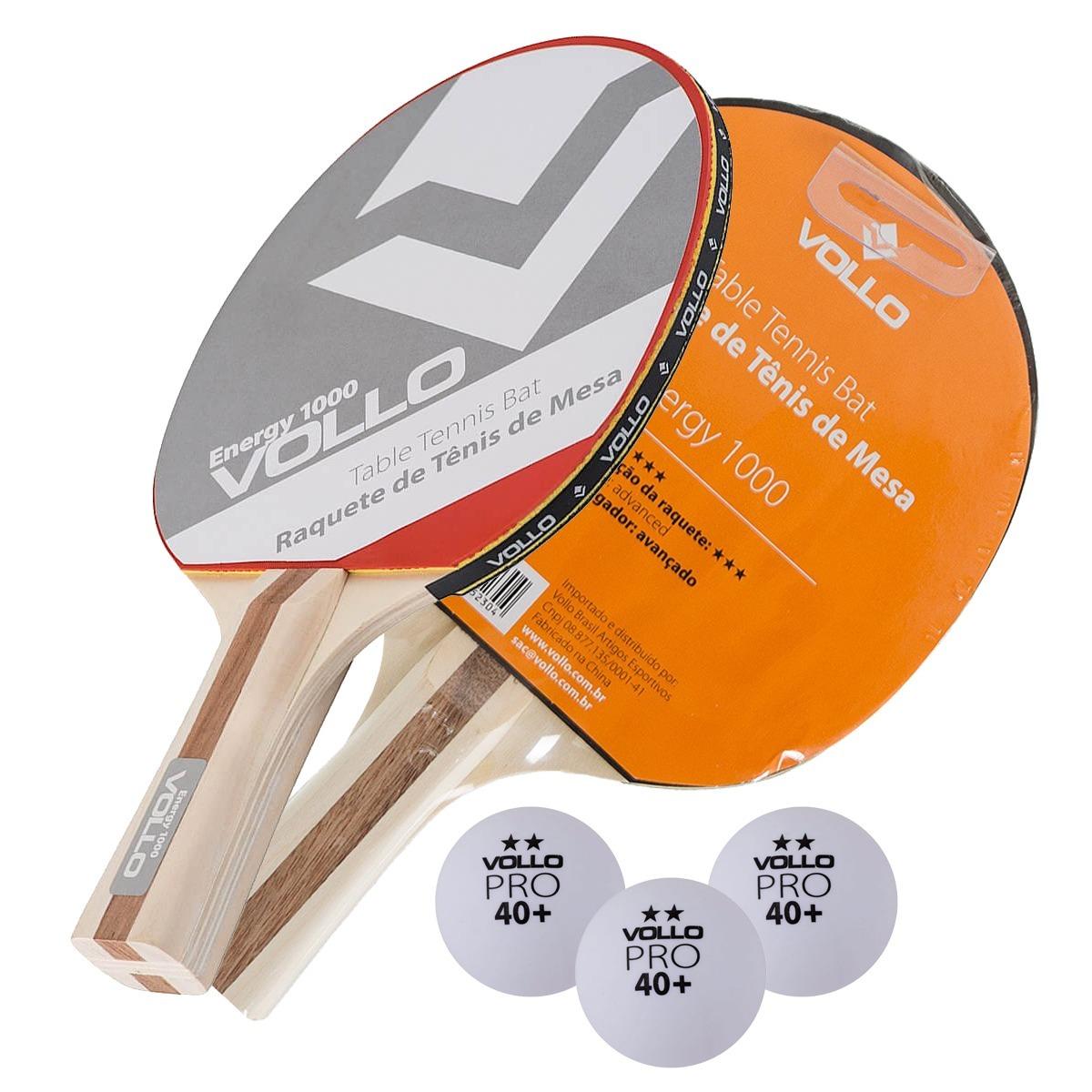 f1d768c4e kit 2 raquete tênis de mesa energy 1000 + 3 bolinhas pro. Carregando zoom.