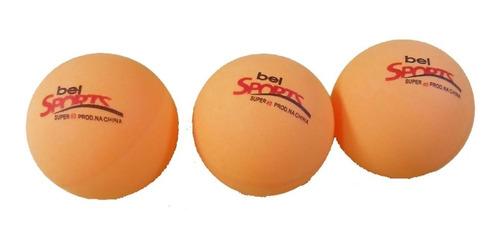 kit 2 raquetes 3 bolinhas tênis de mesa ping pong bel 485000