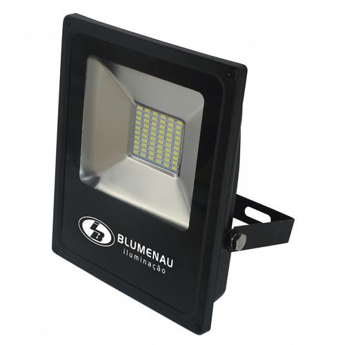 kit 2 refletor led 30w slim 6000k luz branca ip65 blumenau