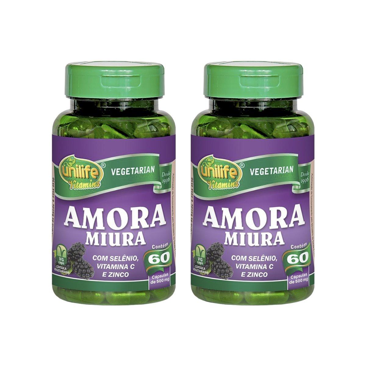 Amora Miúra Unilife 60 Cápsulas Regulador Hormonal Kit 2 Unidades
