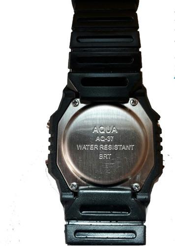 kit 2 relogio aqua aq 37 prova d'água modelo novo hd oferta