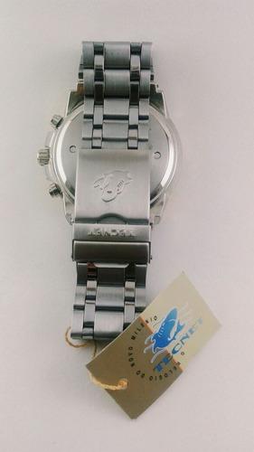 kit 2 relógio masculino aço inox prata e dourado + caixa