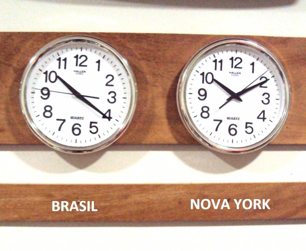 dd0b0be23e8 kit 2 relógio silencioso d fuso horário cromado 30cm 80cm lg. Carregando  zoom.