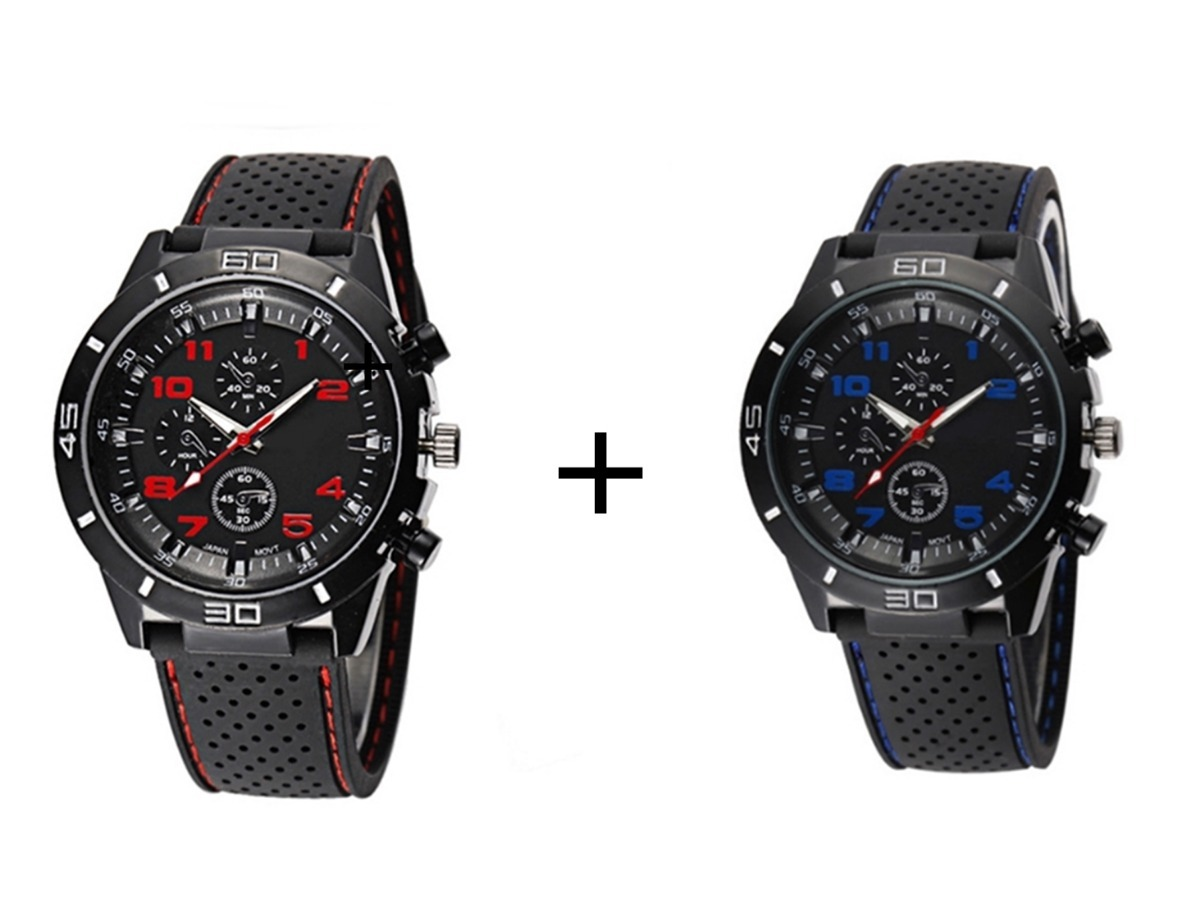 dbb6cf3711e kit 2 relógios de pulso masculino esportivo gt gran touring. Carregando  zoom.