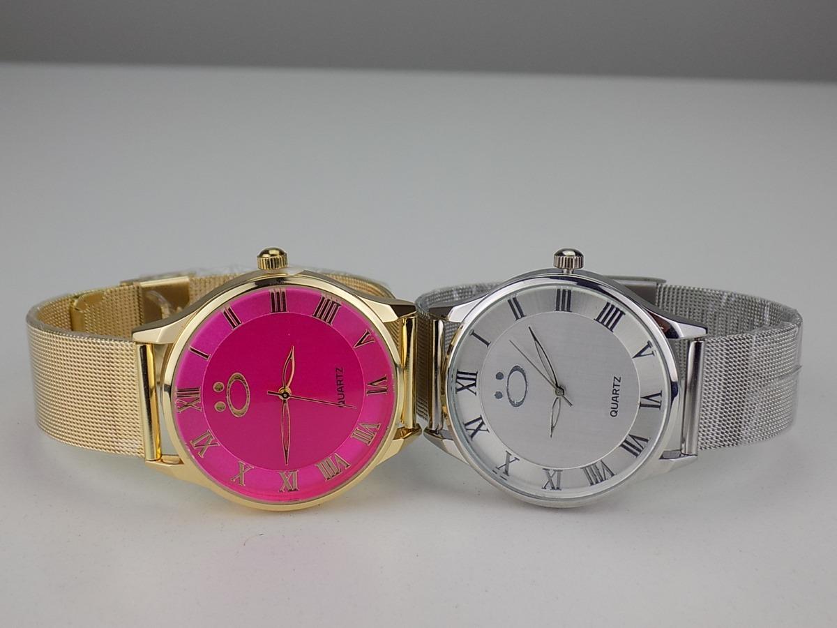 036e8581b3e kit 2 relógios feminino dourado prata original barato luxo. Carregando zoom.
