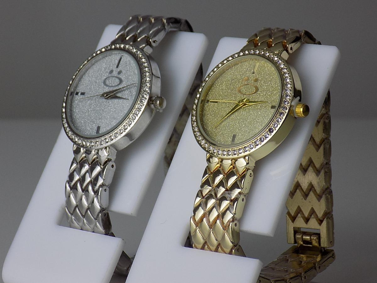 9a2904752d0 kit 2 relógios feminino prata dourado strass original barato. Carregando  zoom.