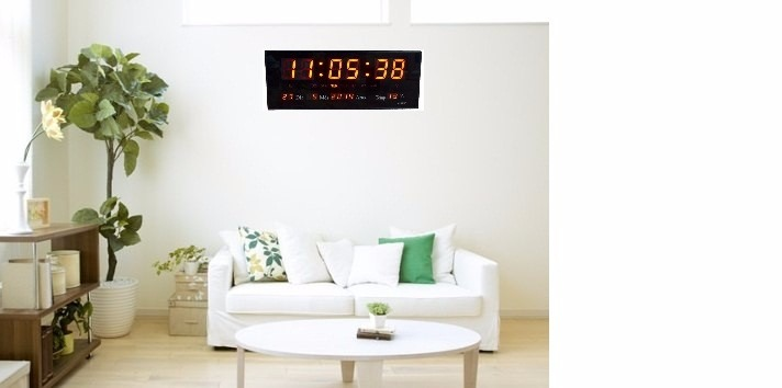 f8d65dd82d3 Kit 2 Relógios Parede Painel Led Digital Calendário Hora-m - R  240 ...