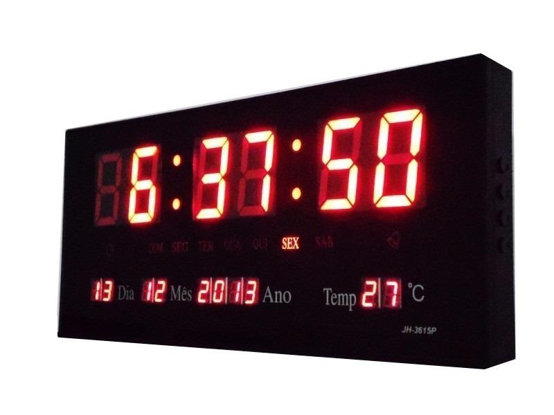 8d9363912d8 kit 2 relógios parede painel led digital calendário hora-m. Carregando zoom.