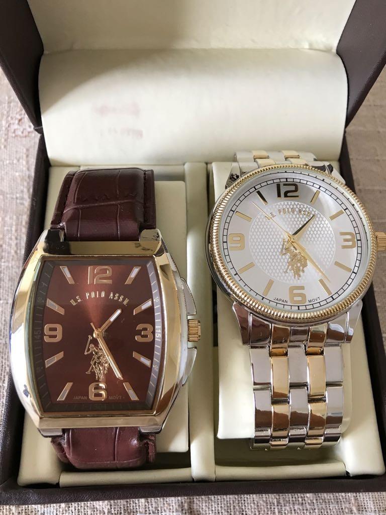 64800a80534 kit 2 relógios polo original importado usa com caixa luxo. Carregando zoom.