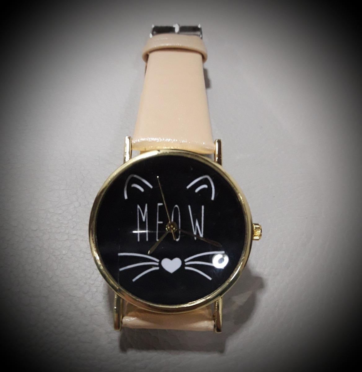 ce114574def kit 2 relógios pulso couro meow gato gatinho promoção oferta. Carregando  zoom.