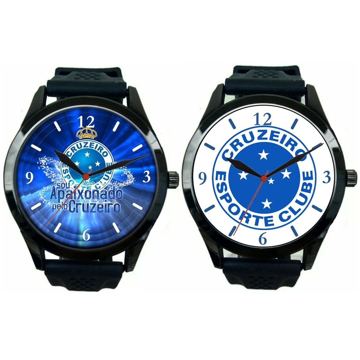 fe95aee2c4b kit 2 relógios pulso esportivo cruzeiro masculino barato. Carregando zoom.