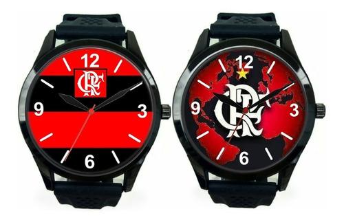 kit 2 relógios pulso esportivo flamengo barato personalizado