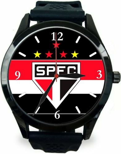 kit 2 relógios pulso masculino são paulo barato esportivo