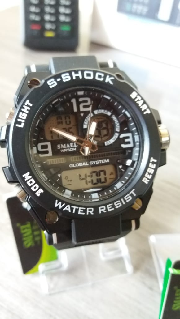 b103e7c5527 kit 2 relogios smael s-shock militar à prova d água. Carregando zoom.