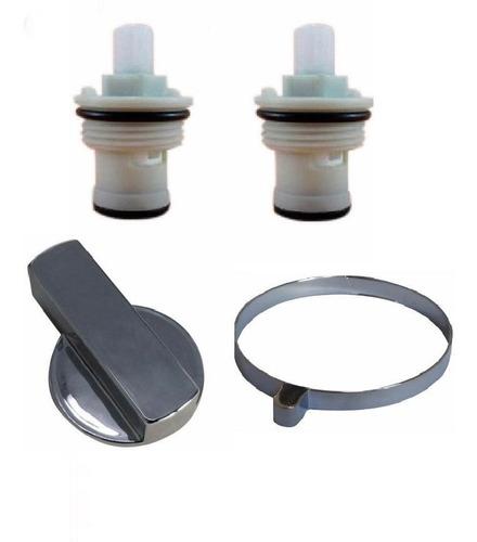 kit 2 reparo registro 1 manípulo 1 botão torneira hydra slim