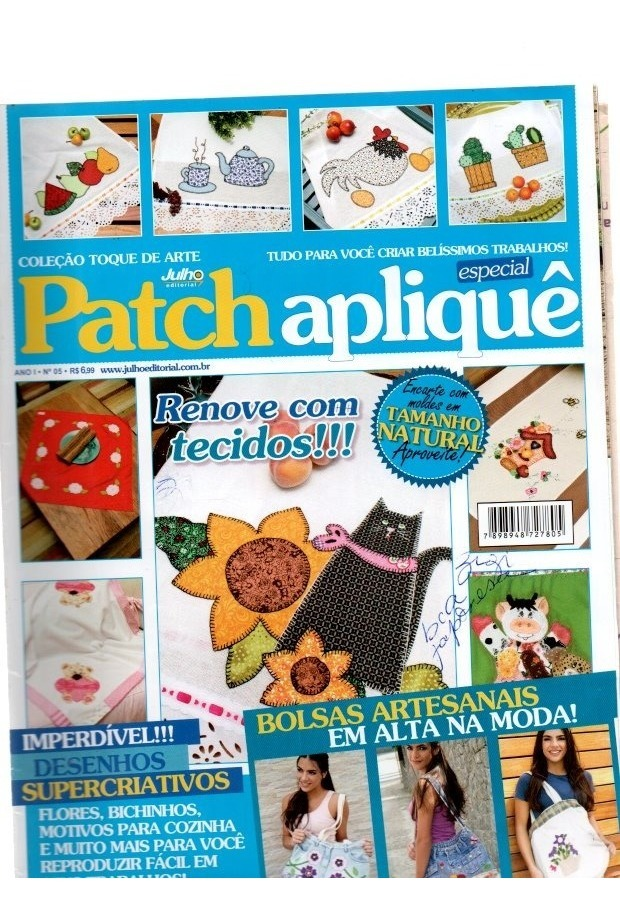 Kit 2 Revista Patch Aplique Especial E Variadas Com Moldes R 25