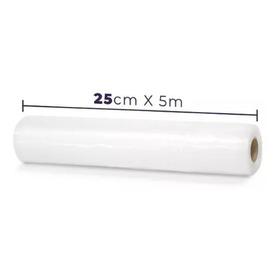 Kit 2 Rolos Saco Embalagem P/ Seladora A Vácuo Ranhuras 25cm