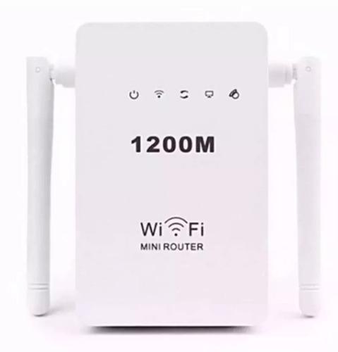 kit 2 roteador e repetidor 1200mbps 2 antenas amplificador
